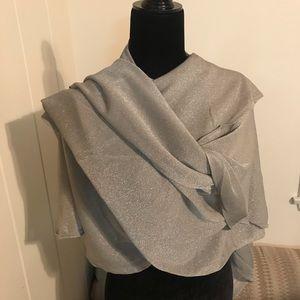 Wrap elegant double draped